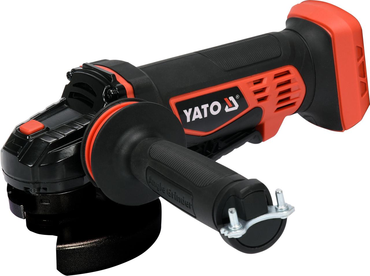 Шлифмашина угловая аккумуляторная 125мм YATO YT-82827