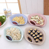 Двойная миска со сливом и отделением для соуса, Організатор для ватних паличок і зубочисток Лотос, Оригинальные тарелки