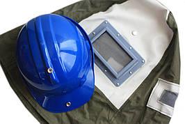 Маска для пескоструйной обработки Boro. Вентиляция и видоискатель. Прочный шлем.