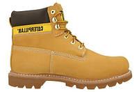 """Зимние ботинки CAT Caterpillar Colorado Boots """"Yellow Boots"""" - """"Светло - Коричневые"""" (Копия ААА+)"""