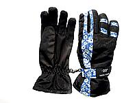 Перчатки горнолыжные женские SHENPEAK BLUE-23 В 023 (синий цветок)
