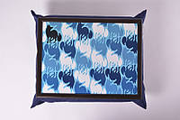 Поднос на подушке Синий лис, Піднос на подушці Синій лис, Подносы на подушке