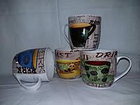 Кружка фарфор. широкий  конус 340мл Горячий чай, фото 1