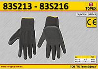 """Перчатки рабочие х/б с латексным покрытием размер 8"""",  TOPEX  83S216"""