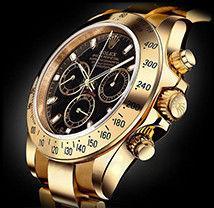 Механика Rolex Daytona Gold ролекс механические часы мужские золото-черные