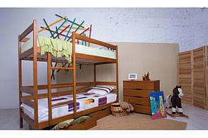 Двухъярусная деревянная кровать АМЕЛИ с выдвижными ящиками ТМ Олимп, фото 2