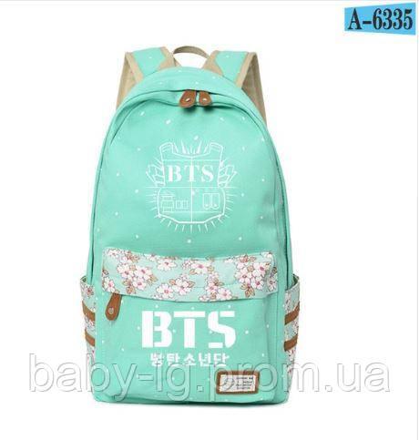 a233d96c2b0a Женский рюкзак K-pop BTS. / БИРЮЗОВЫЙ / Вместительный городской рюкзак из  ткани.