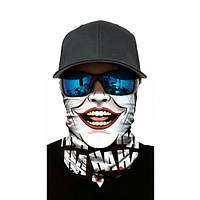 """Бафф-маска с рисунком черепа - """"Joker"""""""