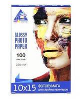 Фотобумага INKSYSTEM Glossy 10х15 230 г 100 листов, фото 1