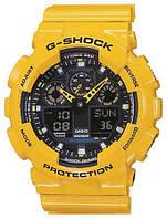 Часы CASIO G-Shock GA 100 желтые
