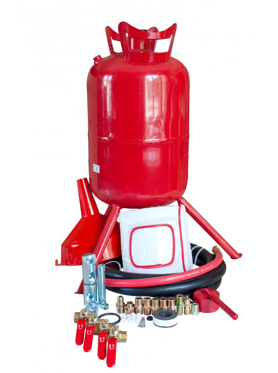 Піскоструминний апарат Carmax(19 літр). Пересувний. Напірного типу. Повна комплектація.