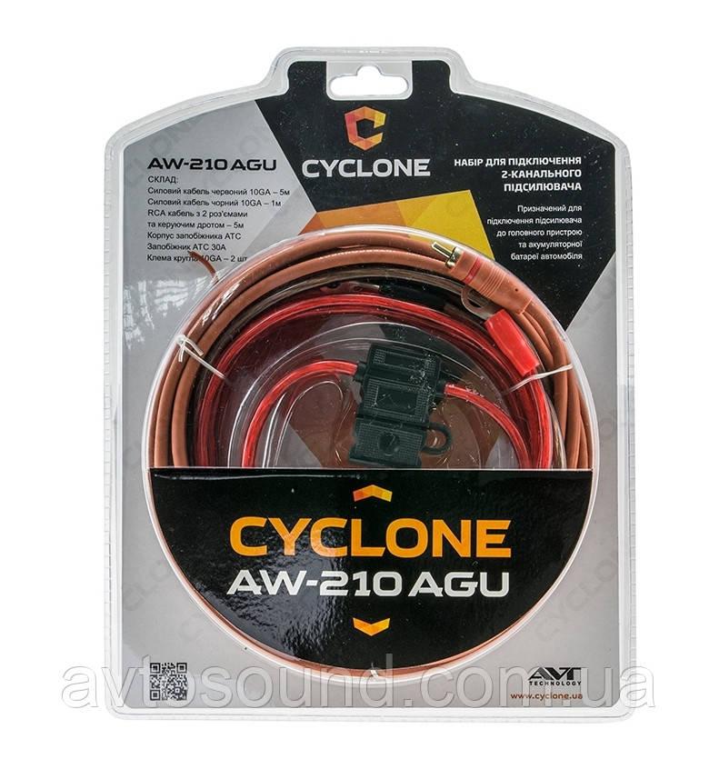 Установочный комплект для усилителя Cyclone AW-210 AGU