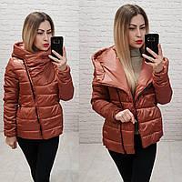 Распродажа!!!  Демисезонная куртка одеяло Oversize, арт М523, цвет терракот