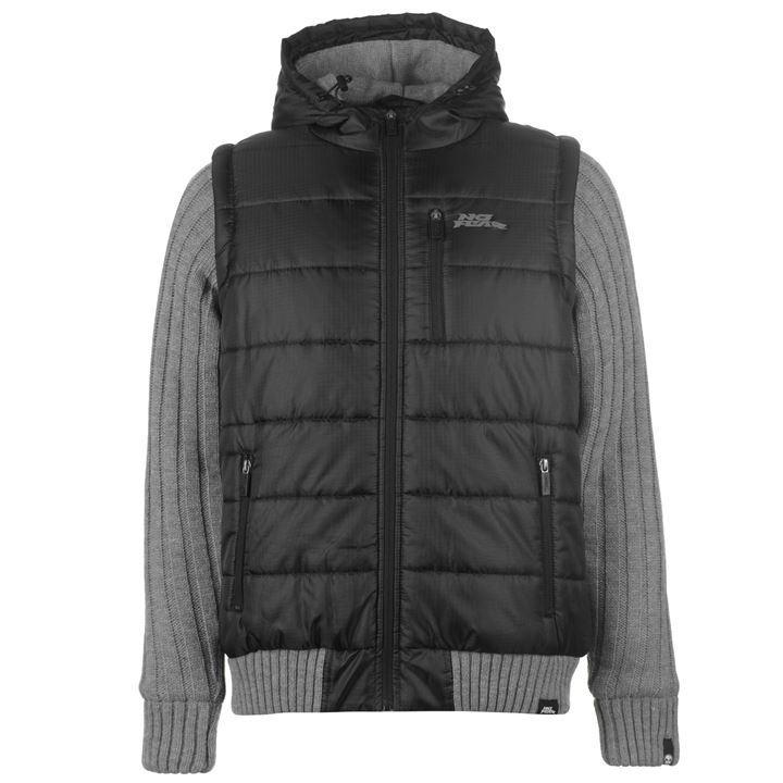 Куртка No Fear Knitted Sleeve Jacket Mens
