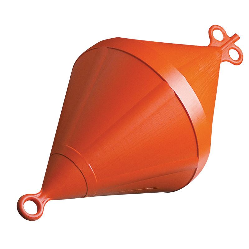 Буй якорный би-конический, оранжевый 220х540мм
