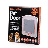 Дверь двусторонняя для домашних животных Белая