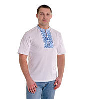 Мужская вышитая футболка крестиком «Ромбы» М-614-2