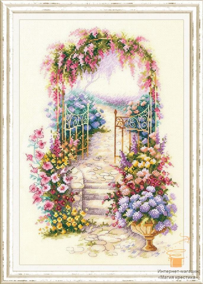 Набор для вышивки крестом Чудесная игла 110-001 «Садовая калитка»