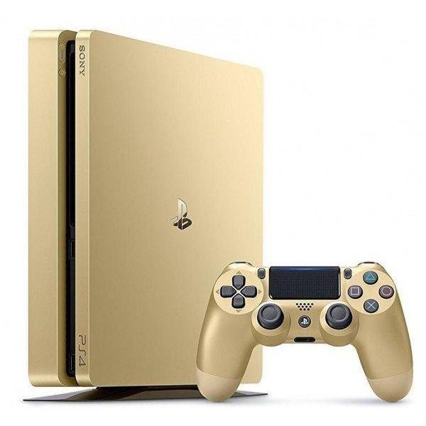 Игровая приставка Sony PlayStation 4 Slim 500GB Gold + Dualshock