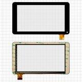 """Сенсорный экран для планшета Tablet PC 7 """", 7"""", 186x106 mm, 30 pin, черный, # GF7033A2-PG, GT70PFD8880"""