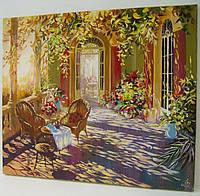 Большая картина маслом Живопись Пейзаж Цветы Лето Осень Весна Декор в гостиную спальню кухню офис На подарок
