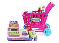 Игровой набор кассовый аппарат и тележка с продуктами