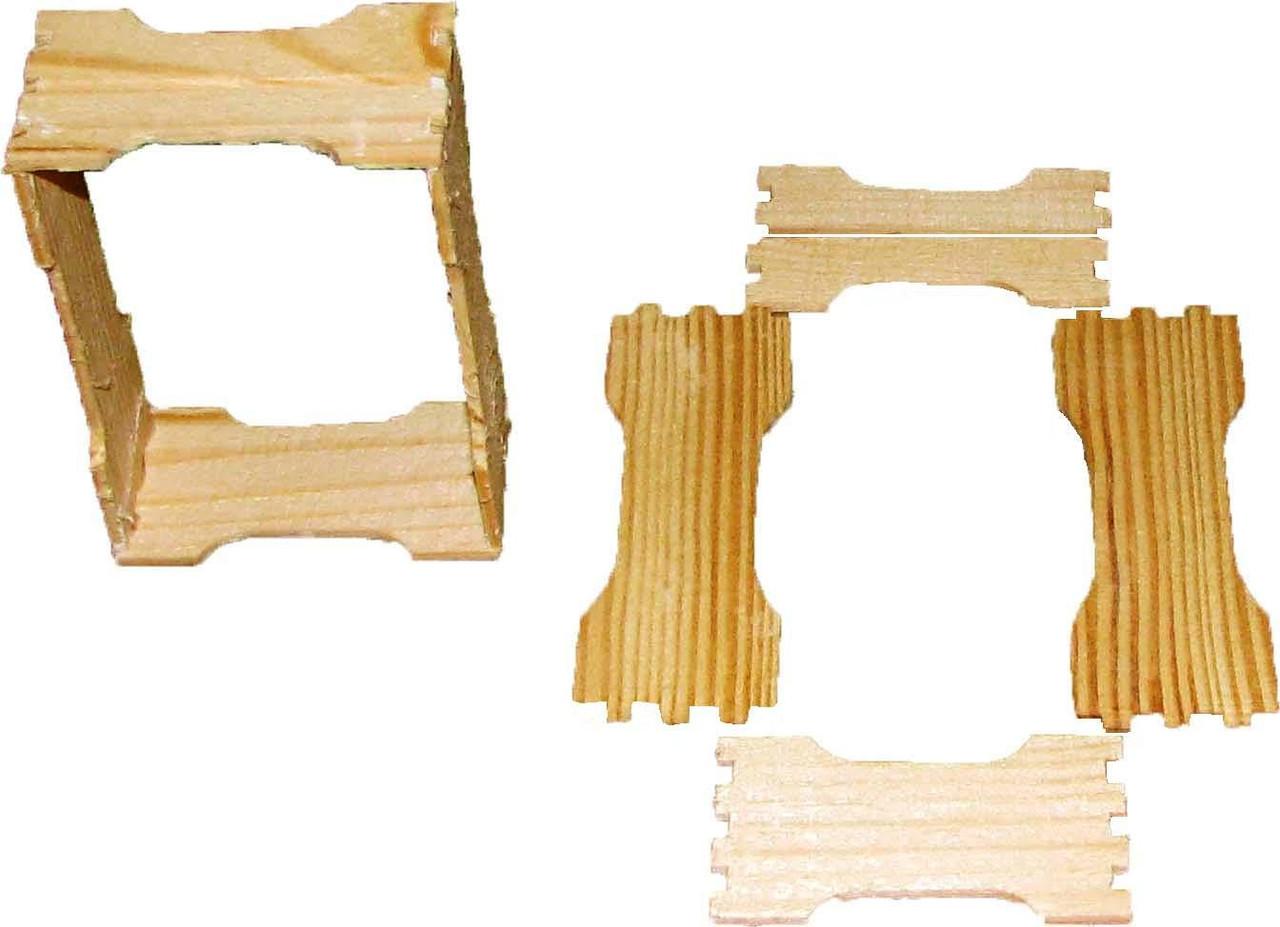 Заготовка для сотового меда под 230 по 12шт с верхним пропилом