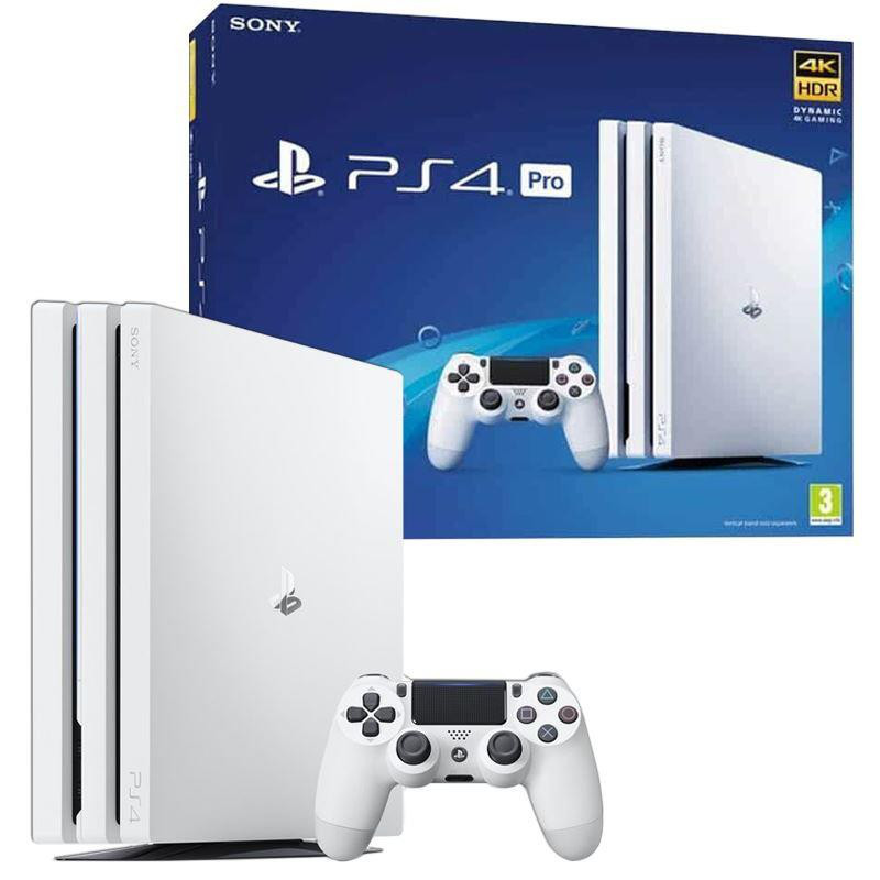 Игровая приставка Sony PlayStation 4 Pro (PS4 Pro) 1TB White + DualShock 4