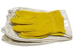 Перчатки кож желт лен р. XXL