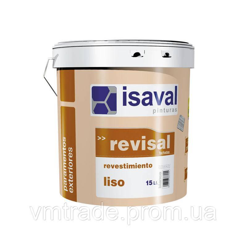 Краска акриловая для фасадных и внутренних работ, Изаваль Ревисаль лисо (Isavsl Revisal liso) 15 л