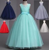 213f4a94db3 Платье бирюзовое бальное выпускное длинное в пол нарядное для девочки в  садик или школу
