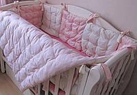 Комплект для новорожденного: бортики в кроватку + одеяльце.100% хлопок