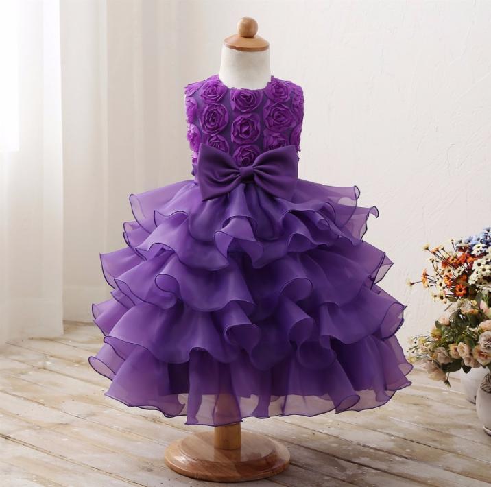 Платье фиолетовое бальное выпускное нарядное для девочки в садик или школу за колено.