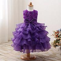 Платье фиолетовое бальное выпускное нарядное для девочки в садик или школу за колено., фото 1