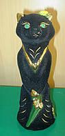 Подарок девушке - Гламурная копилка из керамики Чёрная Кошка, фото 1