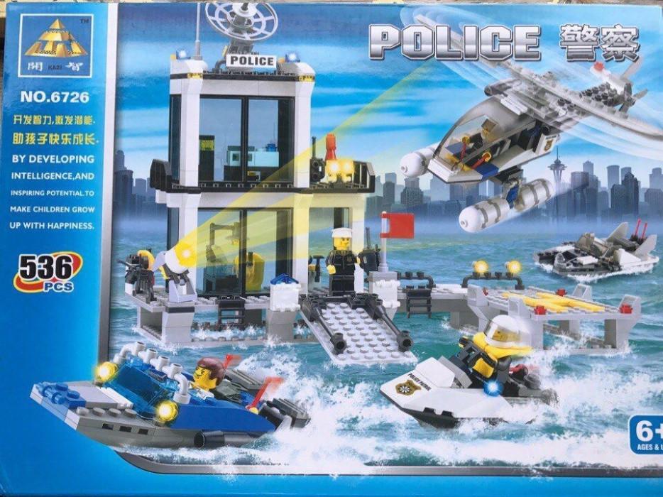 Конструктор KAZI 6726 полицейский блокпост/участок Lego City Лего