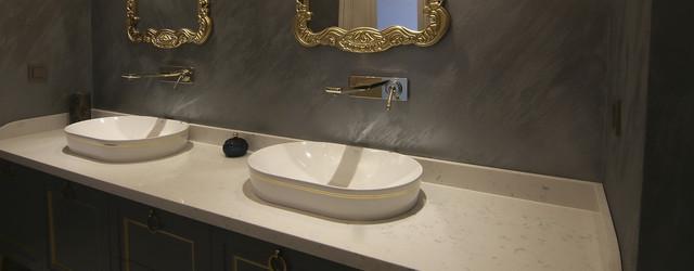 Столешница в ванную искусственный камень 5123 Kashmere Carrara - Photo