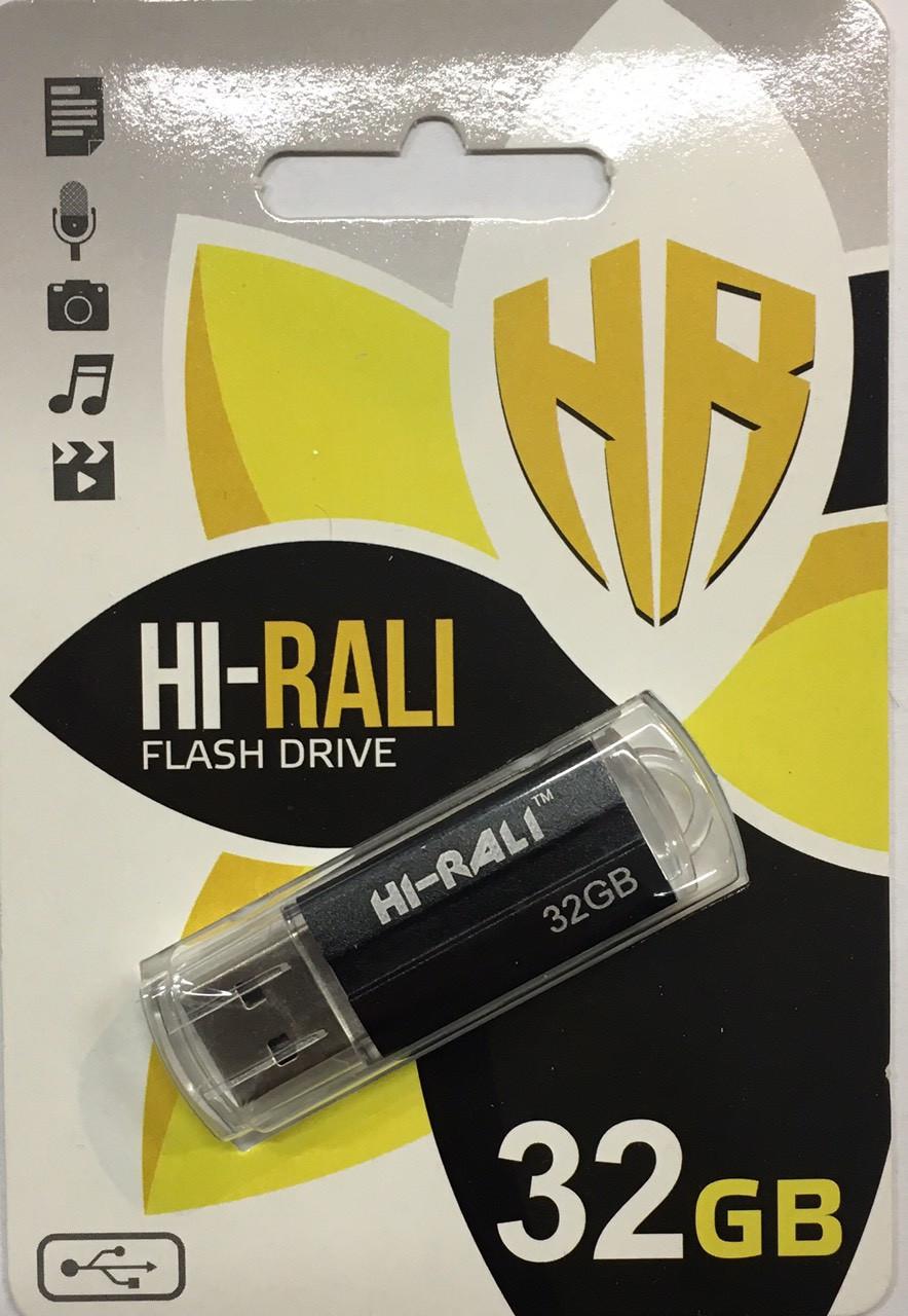 Флеш накопитель Флешка USB 2.0 32Gb Hi-Rali Corsair series чёрная, HI-32GB3CORSL