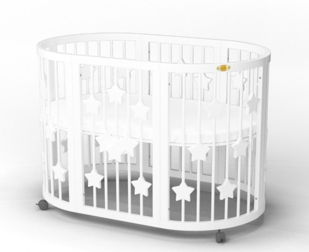 Детская кровать IngVart Smartbed Round Звезды Белый