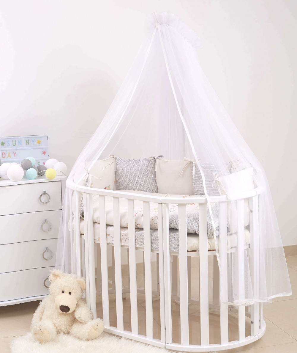 Детская постель Twins Eco Line /бампер подушки/ Forest mint 6 эл E-117
