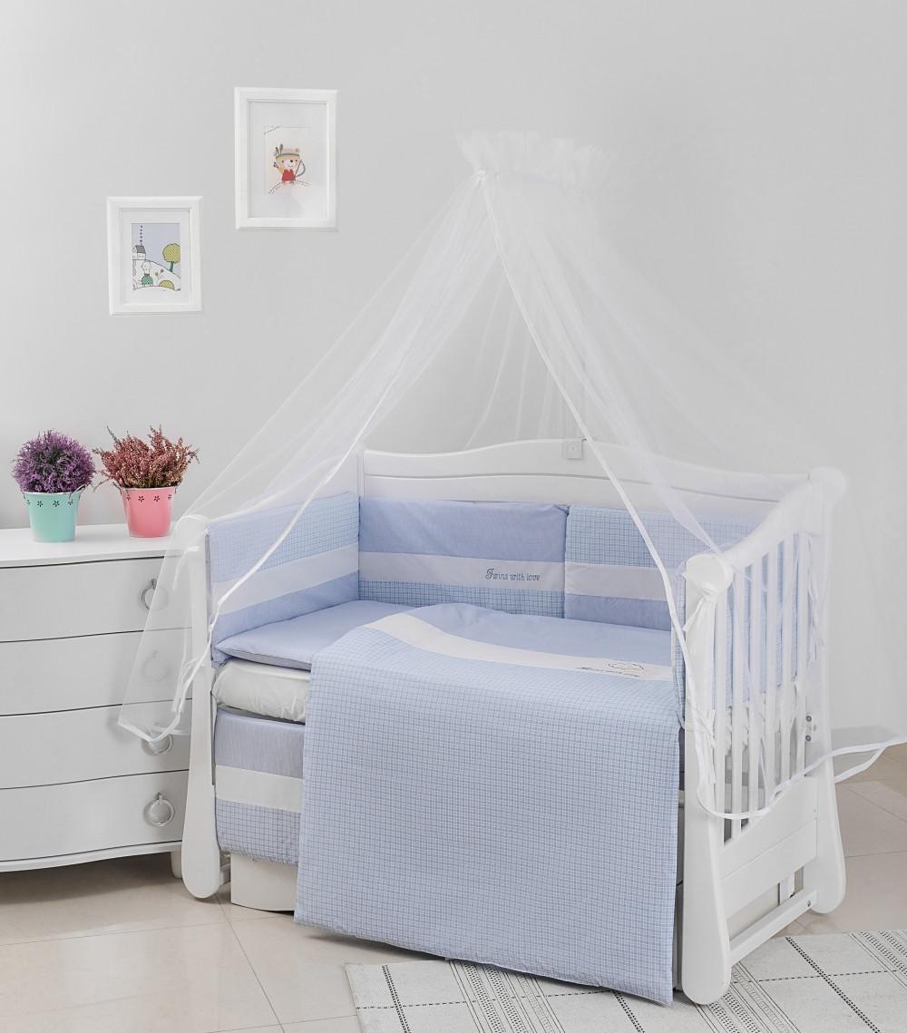 Детская постель Twins Evolution Облака 6 эл A-034 blue