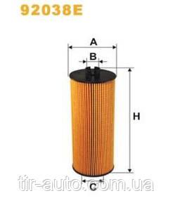 Фильтр масляный MAZ 100, 200; MERCEDES ATEGO, ATEGO 2, ATRON, AXOR, AXOR 2 (WIX FILTERS)