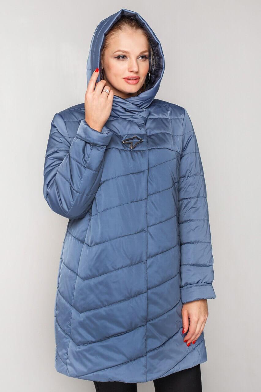 Куртка женская удлиненная на весну с 50 по 60 размер