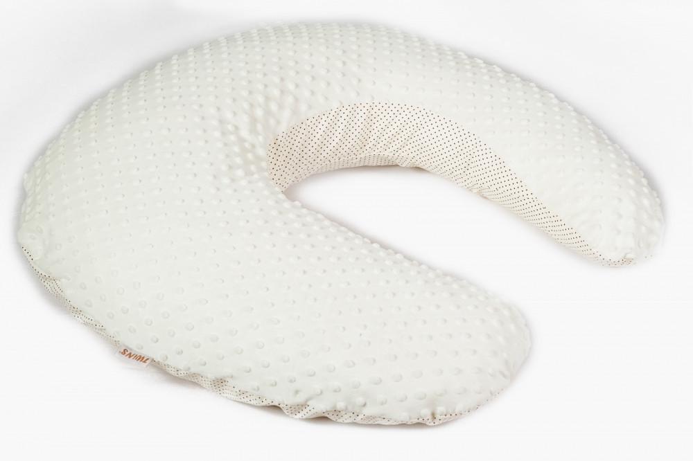 Универсальная подушка для беременных Twins Minky ecru - фото 1