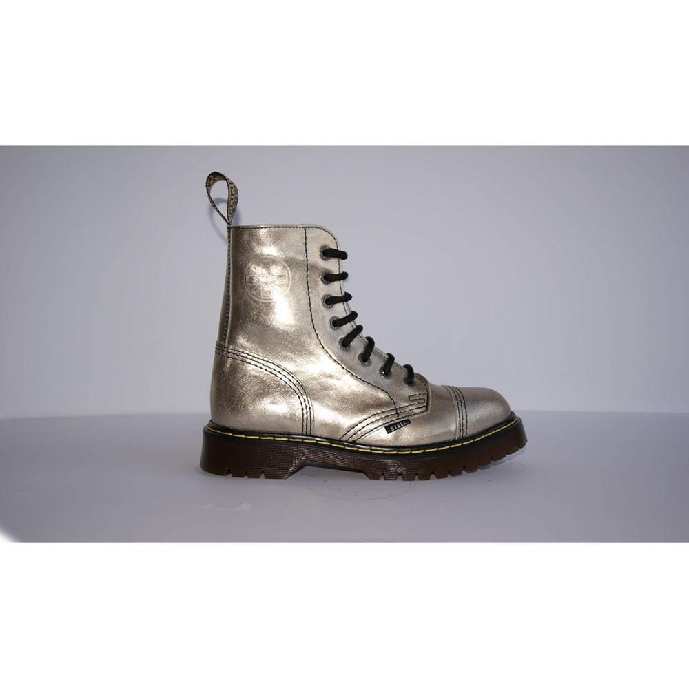 Средние женские ботинки Steel Limited Edition золотистые 8 дырок 113/AL/D-115