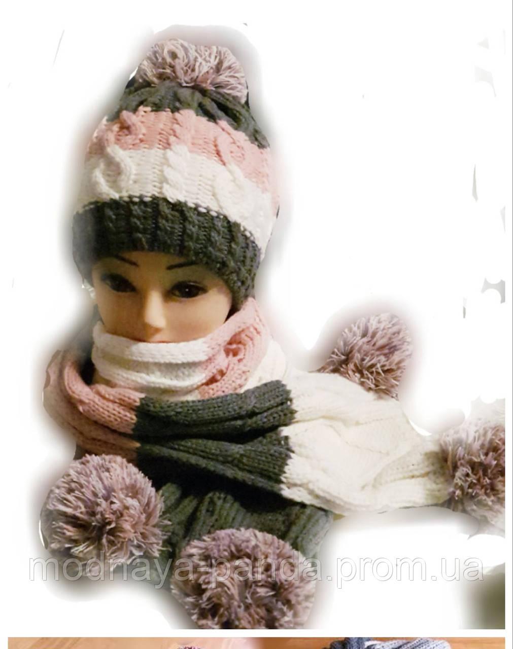 Шапка+шарф комплект