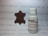 Краска для кожи Felice цв.Коньяк Красное дерево (25 мл)Для обуви,гладкой кожи, кожгалантереи, кожаной мебели, , фото 1
