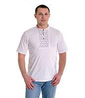Мужская вышитая футболка крестиком «Ромбы»