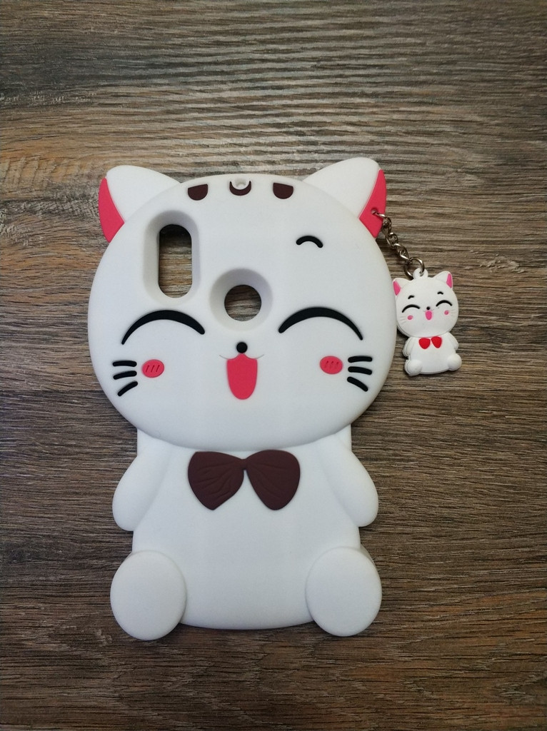 Объемный 3d чехол для Xiaomi Mi A2 Lite Кошечка белая