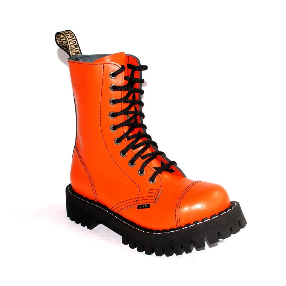 Высокие ботинки Steel оранжевые 10 дырок 105/106/O/F.ORG